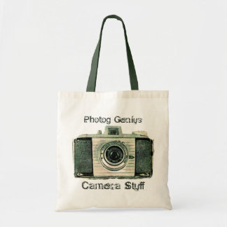 Grunge Vintage Camera Tote  Bag