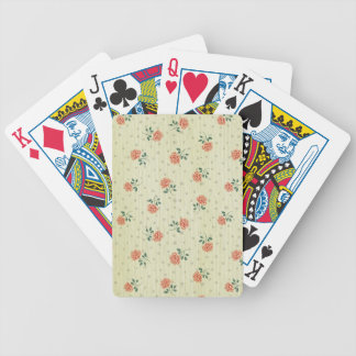 Grunge,vintage,coral,floral,country,chic,victorian Bicycle Playing Cards