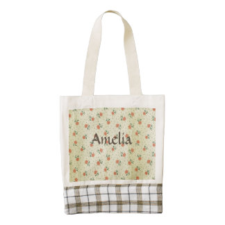 Grunge,vintage,coral,floral,country,chic,victorian Zazzle HEART Tote Bag