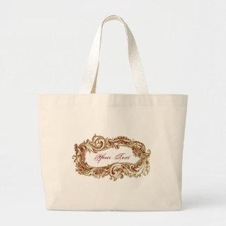 Grunge Vintage Customizable Sepia Frame Tote Bag