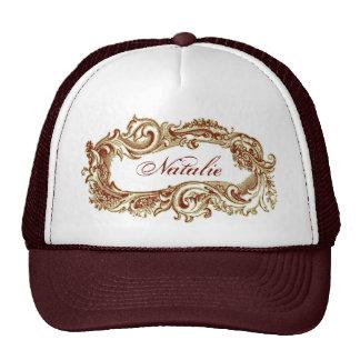 Grunge Vintage Customizable Sepia Frame Trucker Hat