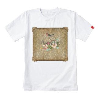 grunge vintage damask floral bird victorian brown zazzle HEART T-Shirt