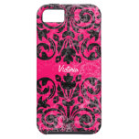 Grunge Vintage Damask Personalized iPhone 5 Cases
