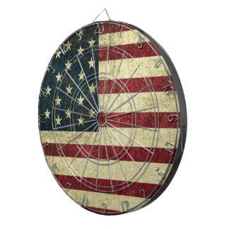 Grunge Vintage Flag Dartboard
