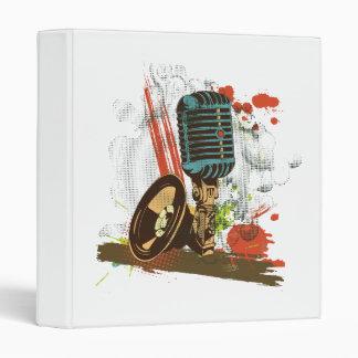 grunge vintage microphone vector binder