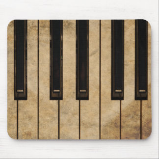 Grunge vintage piano mouse pad