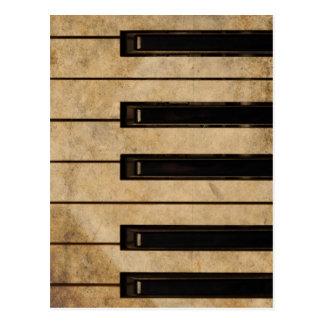 Grunge vintage piano post card