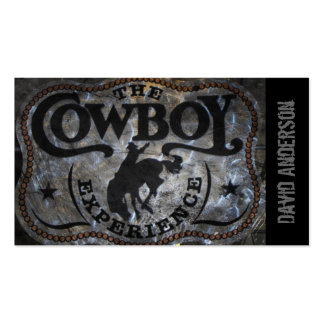 grunge vintage rustic western country cowboy rodeo Double-Sided standard business cards (Pack of 100)