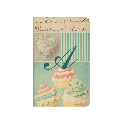 grunge vintage shabby chic teal pink collage roses journals