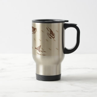 Grunge Vintage sharks 3 fins Travel Mug