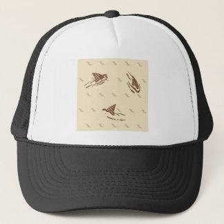 Grunge Vintage sharks 3 fins Trucker Hat
