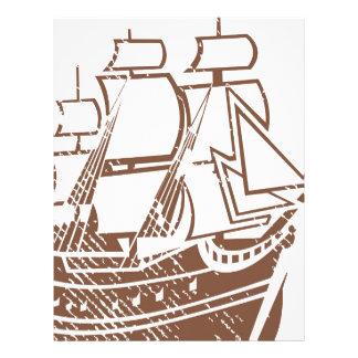Grunge Vintage Ship Letterhead