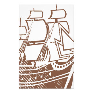 Grunge Vintage Ship Stationery