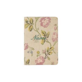 grunge,vintage,victorian,floral,pink,elegant,chic, passport holder