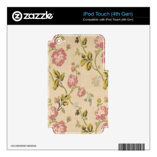 grunge,vintage,victorian,floral,pink,elegant,chic, decal for iPod touch 4G