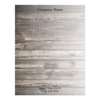 grunge vintage wood grain construction business customized letterhead