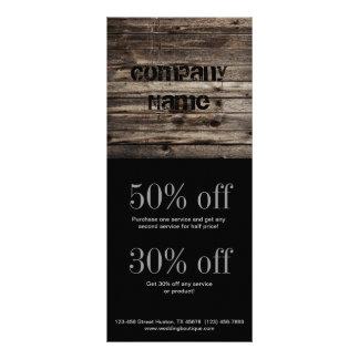 grunge vintage wood grain construction business rack card