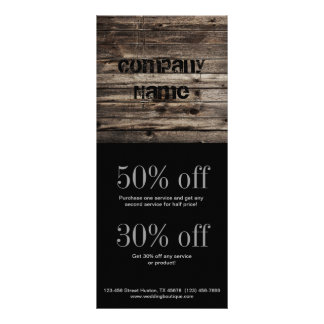 grunge vintage wood grain construction business custom rack cards