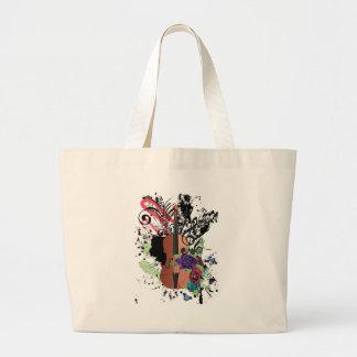 Grunge Violin Illustration2 Large Tote Bag