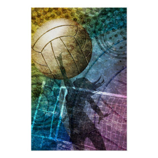 Grunge Volleyball Poster