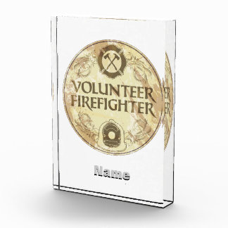Grunge voluntario del bombero