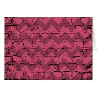 Grunge Wall Pink Black Zigzag Chevrons Card