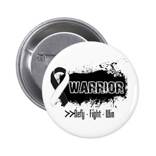 Grunge - WARRIOR - Carcinoid Cancer Pinback Buttons
