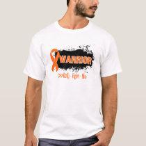 Grunge - WARRIOR - (Orange) Kidney Cancer T-Shirt