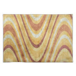 Grunge Waves Cloth Placemat