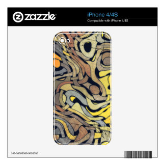 GRUNGE WEAVE iPhone Skin iPhone 4S Decal