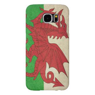 Grunge Welsh Dragon flag illustration Samsung Galaxy S6 Case