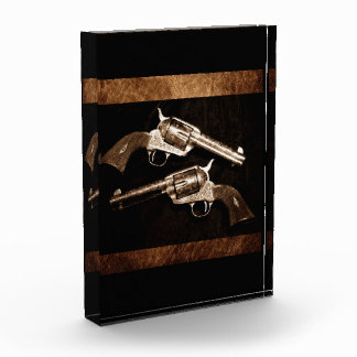 Grunge  Western Country Cowboy Retro Pistols Award