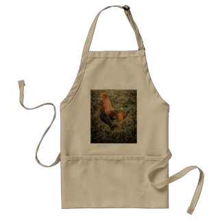 Grunge western country farm chicken rustic rooster adult apron