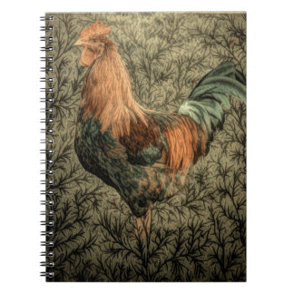 Grunge western country farm chicken rustic rooster notebook
