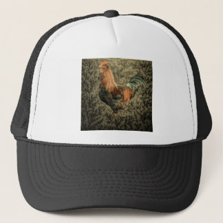 Grunge western country farm chicken rustic rooster trucker hat