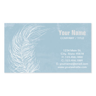 Grunge White Feather Business Card