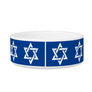 Grunge White Star of David Bowl