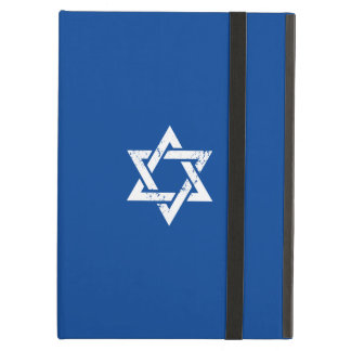 Grunge White Star of David iPad Air Cases