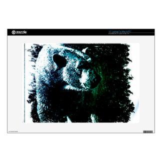 "Grunge wilderness wildlife arctic polar bear skin for 15"" laptop"