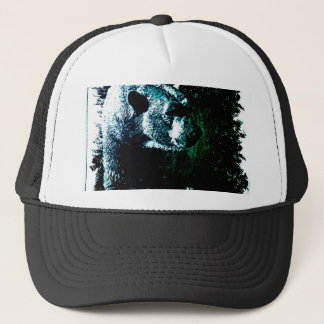 Grunge wilderness wildlife arctic polar bear trucker hat