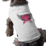 Grunge Winged Heart - Breast Cancer Dog Clothing
