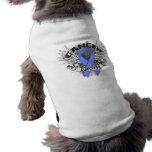 Grunge Winged Ribbon Stomach Cancer Survivor Pet Clothes
