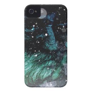 Grunge winter santa claus grumpy Old man Case-Mate iPhone 4 Case