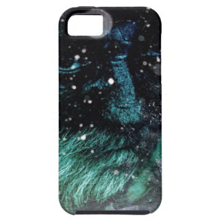 Grunge winter santa claus grumpy Old man iPhone SE/5/5s Case
