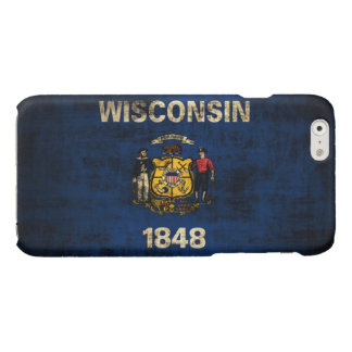 Grunge Wisconsin Flag Glossy iPhone 6 Case