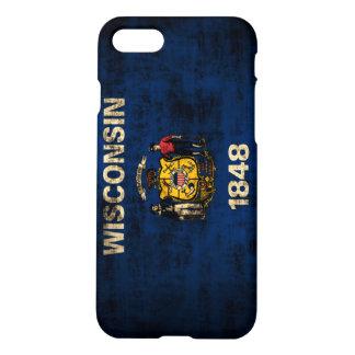 Grunge Wisconsin Flag iPhone 8/7 Case