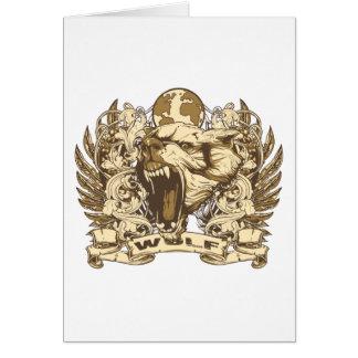 Grunge Wolf Card