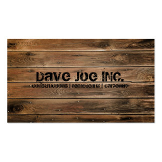 grunge wood texture Construction Carpentry Double-Sided Standard Business Cards (Pack Of 100)