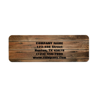grunge wood texture Construction Carpentry Return Address Label