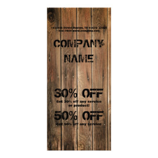 grunge wood texture Construction Carpentry Rack Card